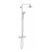 Zestawy prysznicowe natynkowe z deszczownicą