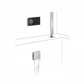 Tres Shower Technology kompletny zestaw wannowy podtynkowy termostatyczny elektroniczny 2-drożny kaskada chrom - 748121_O1