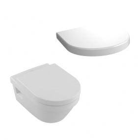 Villeroy & Boch Architectura - Zestaw miska wisząca bezrantowa + deska (5684R001+98M9C101) - Weiss Alpin - 464305_O1