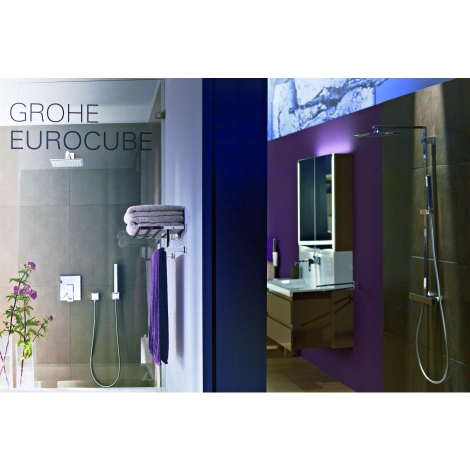 grohe 27704000 euphoria cube kolano przy czeniowe chrom. Black Bedroom Furniture Sets. Home Design Ideas