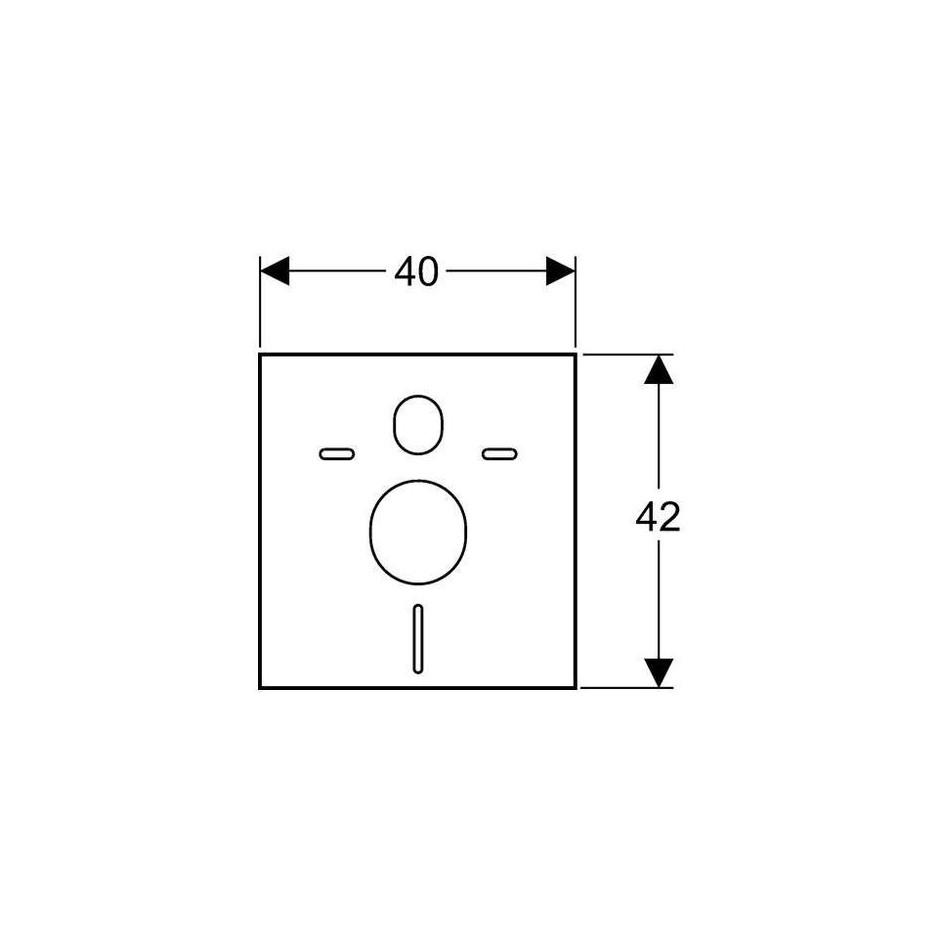 Geberit Zestaw do izolacji akustycznej muszli wiszącej i bidetu, biały - 27072_T1