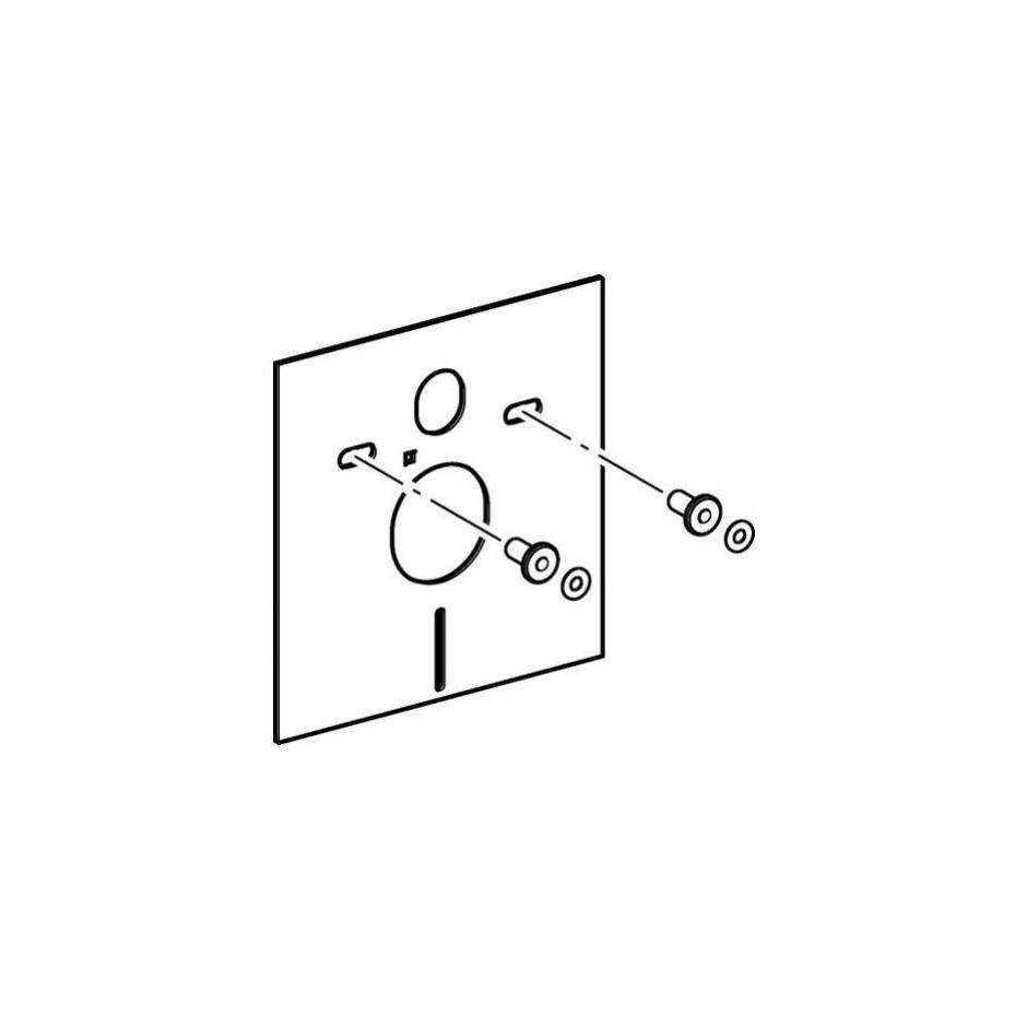 Geberit Zestaw do izolacji akustycznej muszli wiszącej i bidetu, biały - 27072_T2