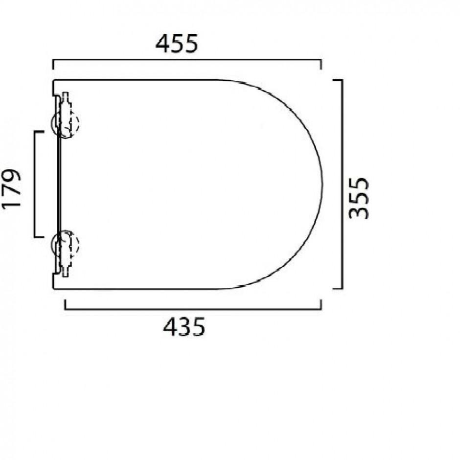 Catalano Sfera Zestaw Miska WC wisząca bezrantowa z śrubami mocującymi z deską sedesową w/o (1VSF54R00+5SCSTP000) - 436340_O2