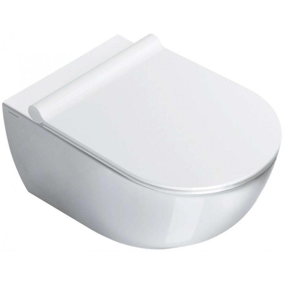 Catalano Sfera Zestaw Miska WC wisząca bezrantowa z śrubami mocującymi z deską sedesową w/o (1VSF54R00+5SCSTP000) - 526340_O1