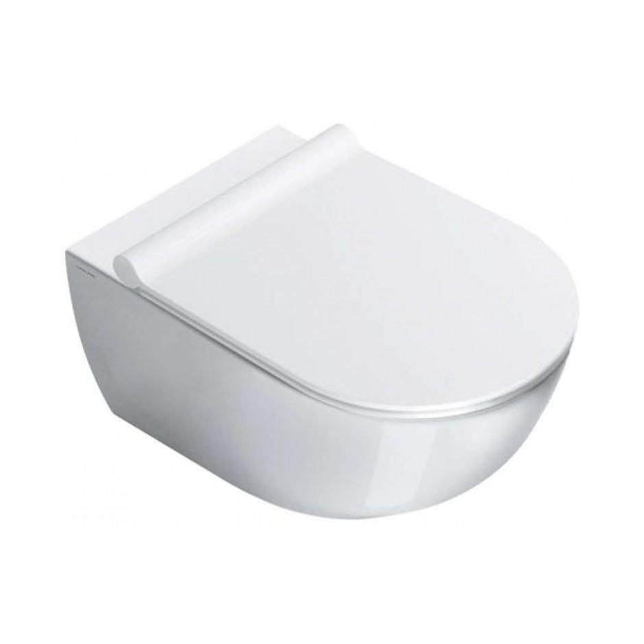 Catalano Sfera Zestaw Miska WC wisząca bezrantowa z śrubami mocującymi z deską sedesową w/o (1VSF54R00+5SCSTP000) - 686753_O2