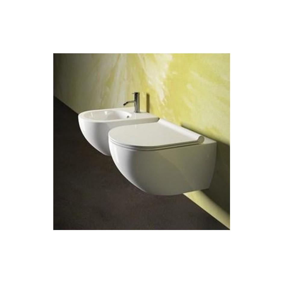Catalano Sfera Zestaw Miska WC wisząca bezrantowa z śrubami mocującymi z deską sedesową w/o (1VSF54R00+5SCSTP000) - 686753_O4
