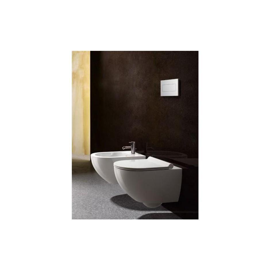 Catalano Sfera Zestaw Miska WC wisząca bezrantowa z śrubami mocującymi z deską sedesową w/o (1VSF54R00+5SCSTP000) - 686753_T1