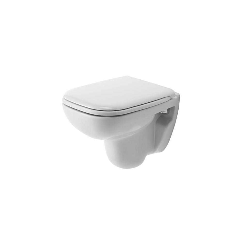Duravit D-Code Zestaw miska WC wisząca 48x35 z deską zwykłą (22110900002+0067310000) - 392214_O1