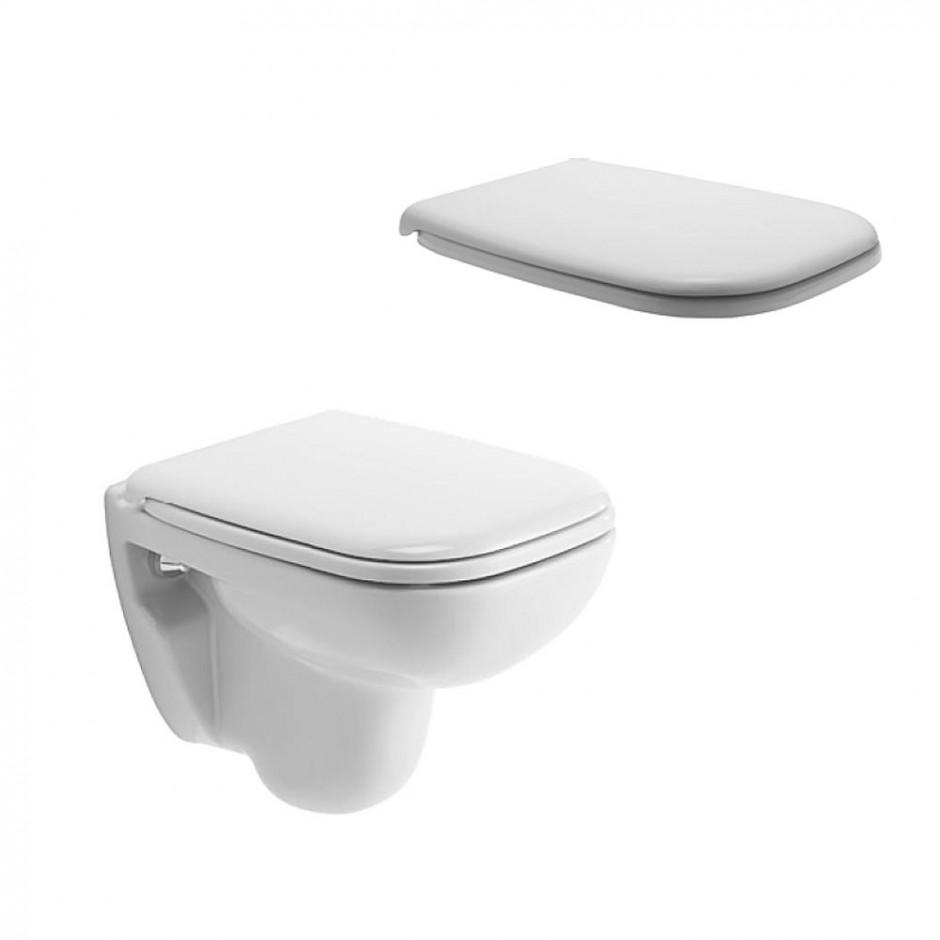 Duravit D-Code Zestaw miska WC wisząca 48x35 z deską zwykłą (22110900002+0067310000) - 436300_O1