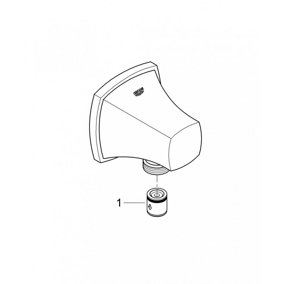 Grohe Grandera kolano przyłączeniowe chrom - 463523_T2