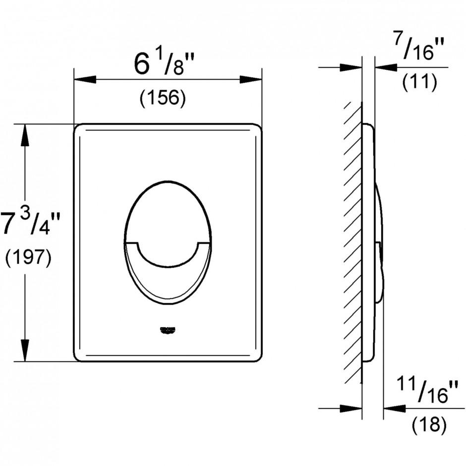 Grohe Skate Air przycisk uruchamiający złoty - 575552_T1