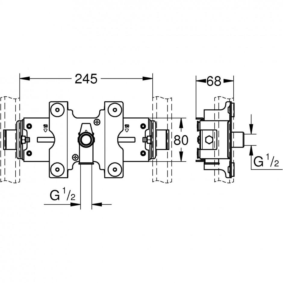 Grohe Rapid Pro zawór prysznicowa chrom - 595717_T1