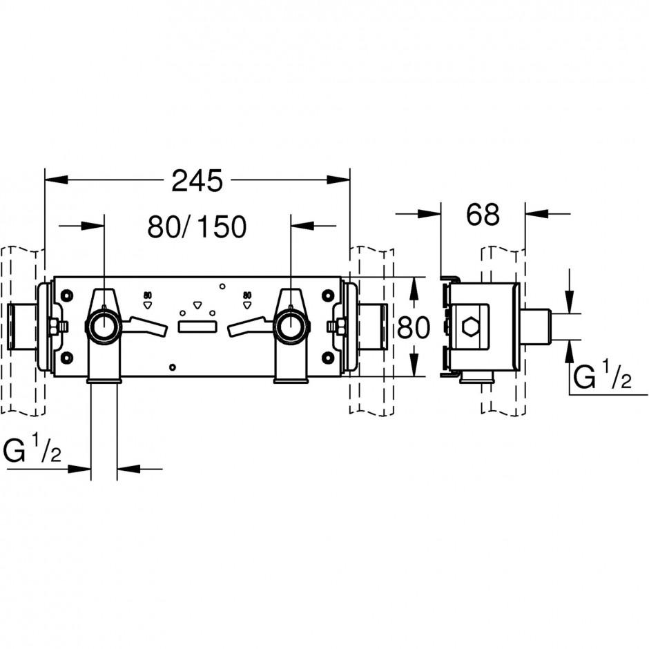 Grohe Rapid Pro zawór umywalkowy chrom - 595734_T1