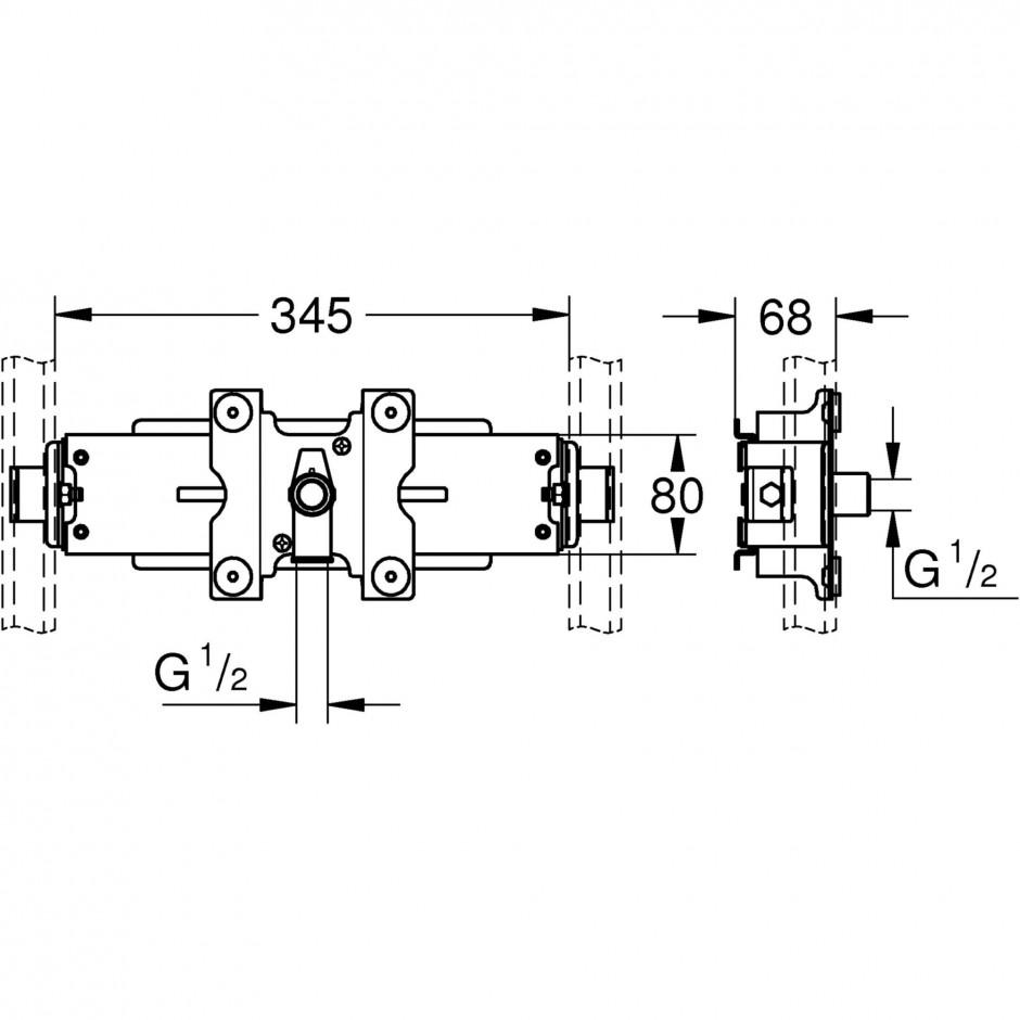 Grohe Rapid Pro dysza prysznicowa chrom - 595621_T1