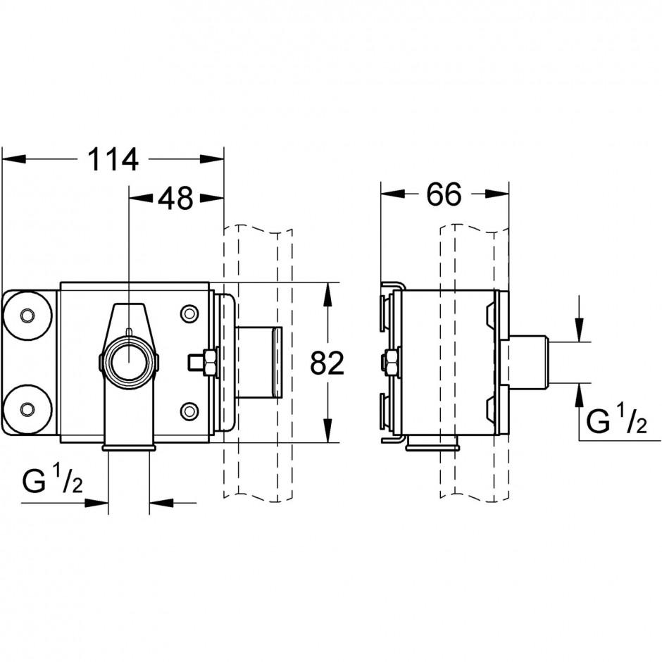 Grohe Rapid Pro el. mocujący - 595639_T1
