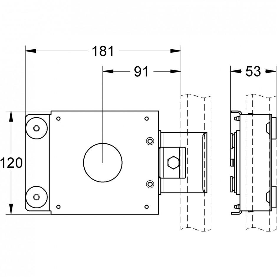 Grohe Rapid Pro dysza prysznicowa chrom - 595700_T1