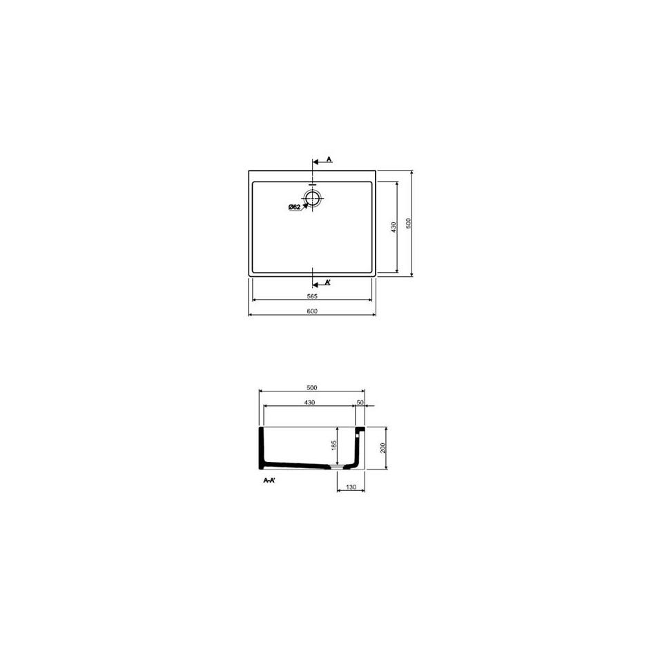 Koło Nova Pro zlew ceramiczny 60x50cm - 5979_T1