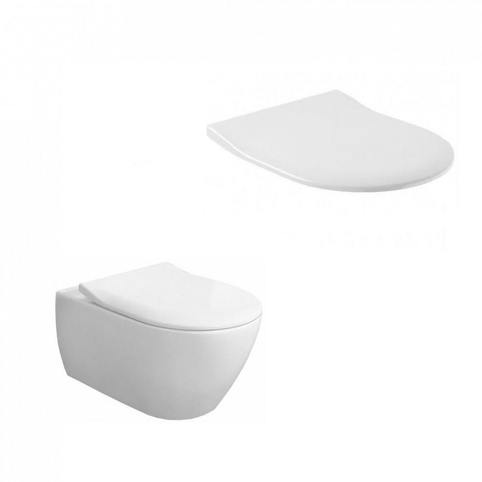 Villeroy & Boch Subway 2.0 zestaw miska WC bezrantowa + deska (5614R0R1+9M78S101) CeramicPlus - 579982_O1