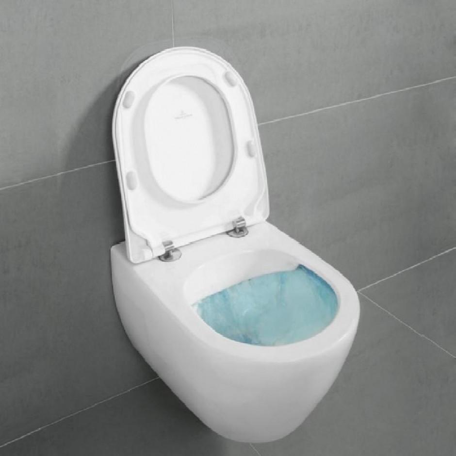 Villeroy & Boch Subway 2.0 zestaw miska WC bezrantowa + deska (5614R0R1+9M78S101) CeramicPlus - 579982_O2