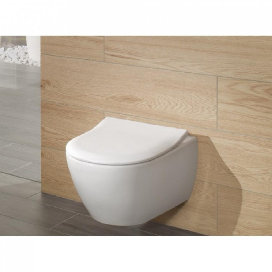 Villeroy & Boch Subway 2.0 zestaw miska WC bezrantowa + deska (5614R0R1+9M78S101) CeramicPlus - 579982_O3