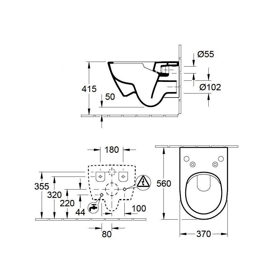 villeroy boch subway 2 0 viclean miska wc wisz ca bezrantowa. Black Bedroom Furniture Sets. Home Design Ideas