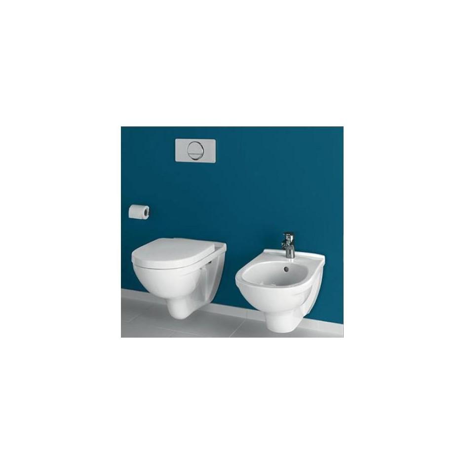 Villeroy & Boch O.Novo Zestaw miska WC wisząca Weiss Alpin 360x560 mm z deską wolnoopadającą ( 56601001 +9M38S101) - 425774_A1