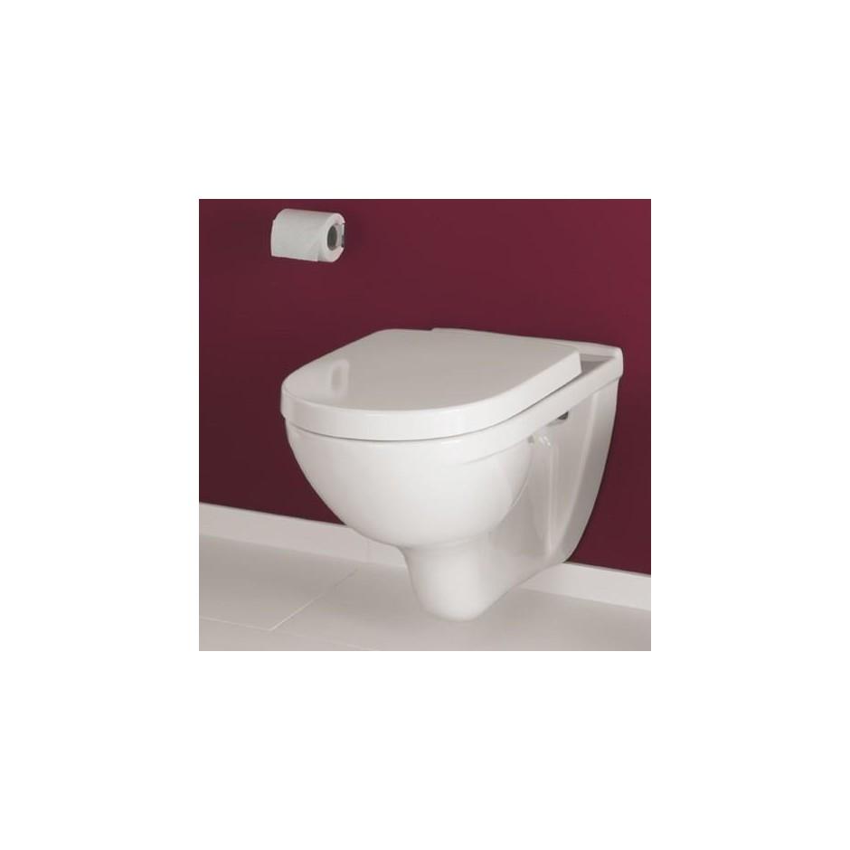 Villeroy & Boch O.Novo Zestaw miska WC wisząca Weiss Alpin 360x560 mm z deską wolnoopadającą ( 56601001 +9M38S101) - 425774_O2