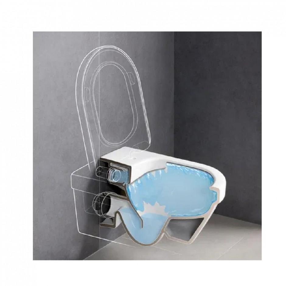 Villeroy & Boch Architectura - Zestaw miska wisząca bezrantowa + deska (5684R001+98M9C101) - Weiss Alpin - 464305_O3