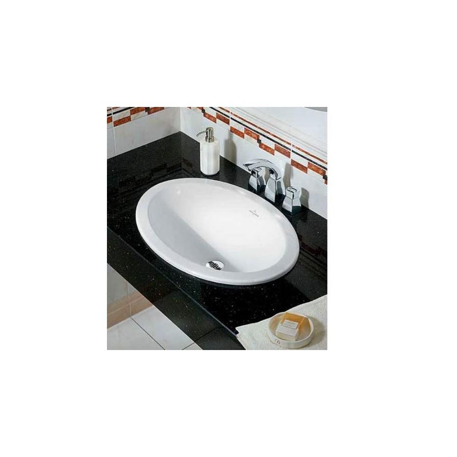 Villeroy & Boch Loop & Friends umywalka nablatowa, 570 x 405 mm, Weiss Alpin - O2