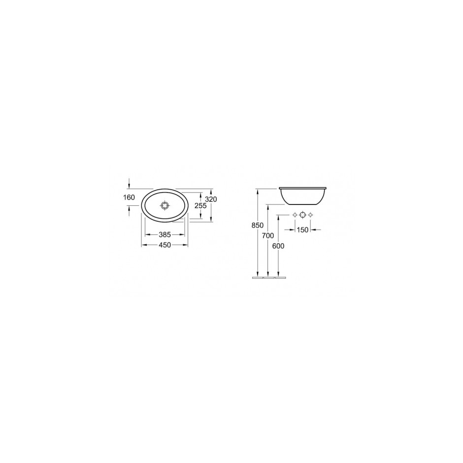 Villeroy & Boch Loop & Friends umywalka nablatowa, 570 x 405 mm, Weiss Alpin - T1