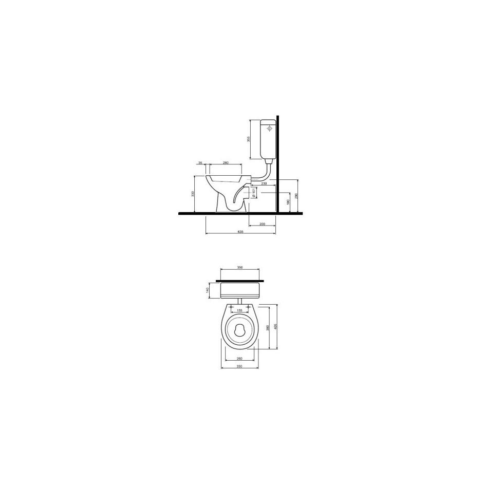 Koło Nova Pro Junior miska WC stojąca odpływ poziomy - 6037_T1