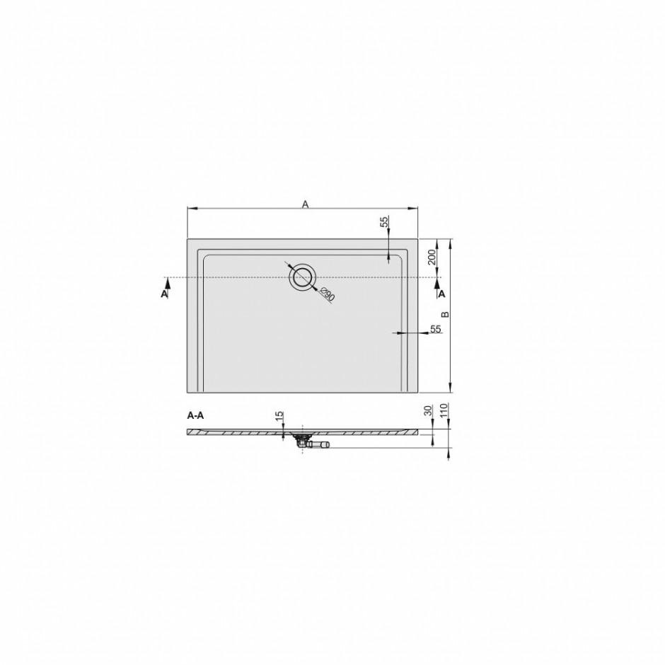 Sanplast Brodzik B-M/SPACE 75x160x1,5 biały - 633393_O3