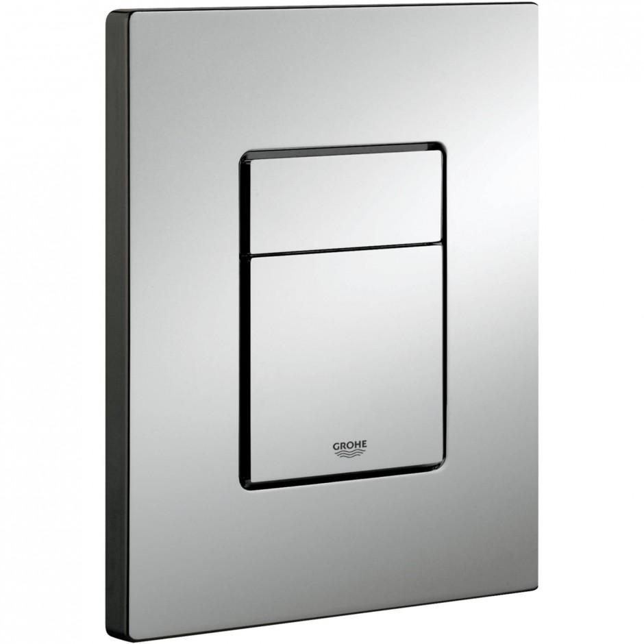 Grohe Rapid SL 4w1: Stelaż podtynkowy WC, 1,13 m + Przycisk Grohe Skate Cosmopolitan + wsporniki + mata (38840000+38732000+3855800M+12345678) chrom - 19005_O1