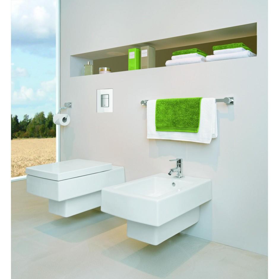 Grohe Rapid SL 4w1: Stelaż podtynkowy WC, 1,13 m + Przycisk Grohe Skate Cosmopolitan + wsporniki + mata (38840000+38732000+3855800M+12345678) chrom - 19005_O11