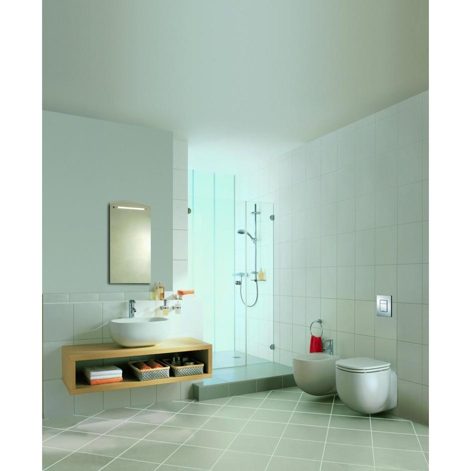 Grohe Rapid SL 4w1: Stelaż podtynkowy WC, 1,13 m + Przycisk Grohe Skate Cosmopolitan + wsporniki + mata (38840000+38732000+3855800M+12345678) chrom - 19005_O8