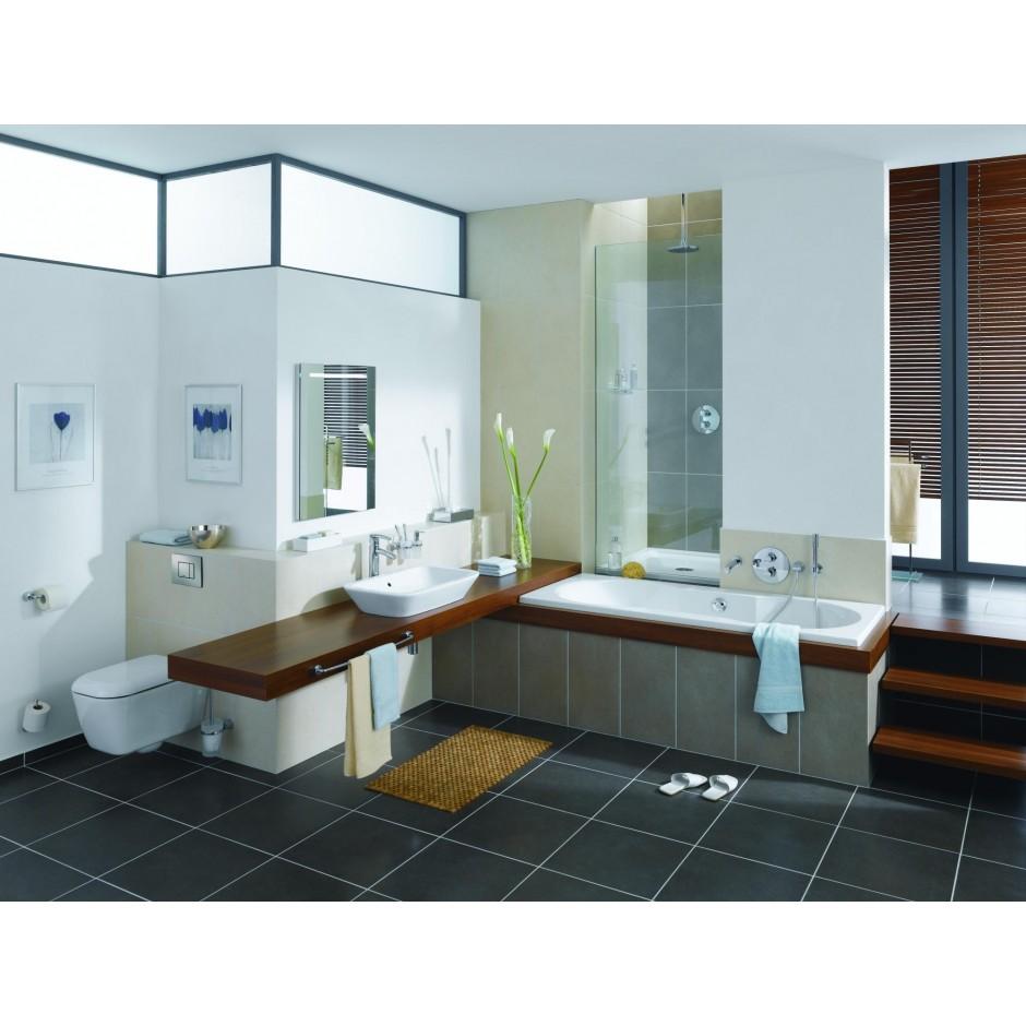 Grohe Rapid SL 4w1: Stelaż podtynkowy WC, 1,13 m + Przycisk Grohe Skate Cosmopolitan + wsporniki + mata (38840000+38732000+3855800M+12345678) chrom - 19005_O9