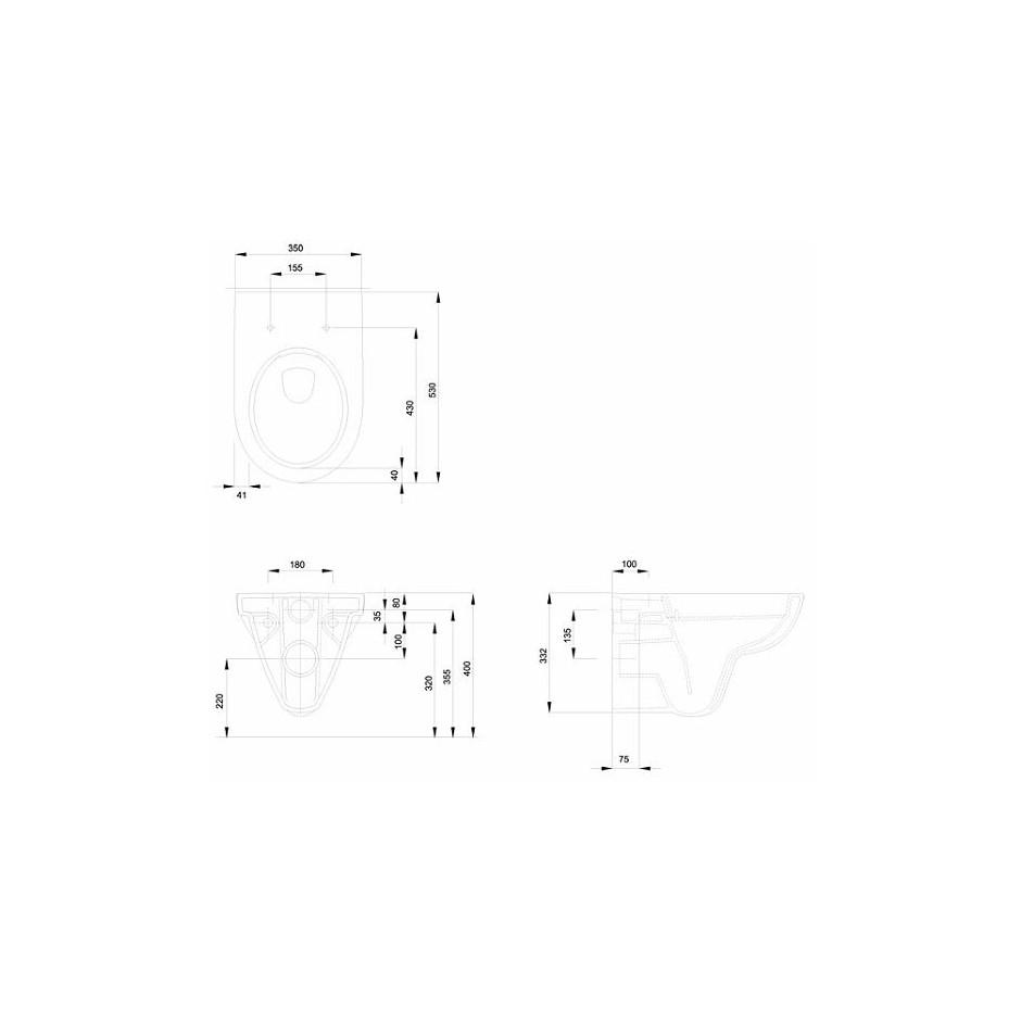 Grohe Koło Nova Pro Zestaw 6w1: Stelaż podtynkowy z miską WC wiszącą bezrantową/Rimfree, deską wolnoopadającą i przyciskiem (3884+M3312+M30112+38732) - 573041_O2