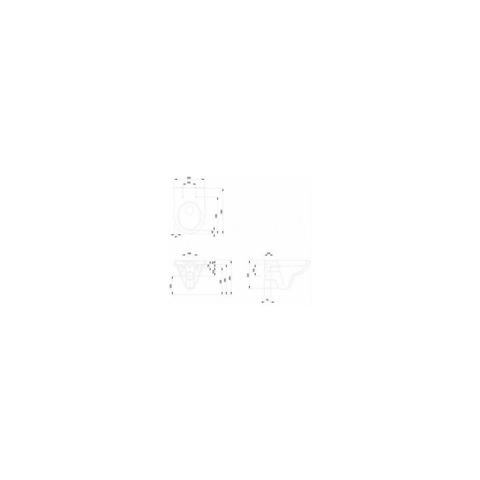 Grohe Koło Nova Pro Zestaw 6w1: Stelaż podtynkowy z miską WC wiszącą bezrantową/Rimfree, deską wolnoopadającą i przyciskiem (3884+M3312+M30112+38732) - 769550_A2