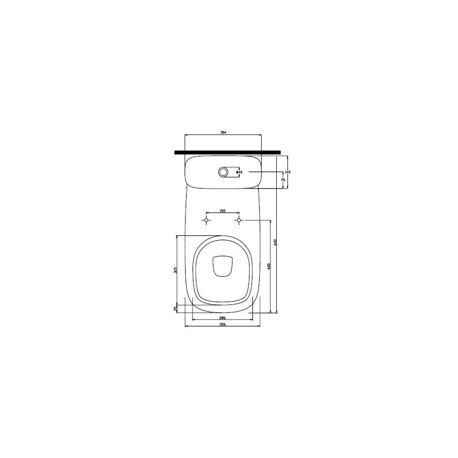Koło Style zestaw WC (miska odpływ uniwersalny, spłuczka 6/3l) Reflex - 5930_T1