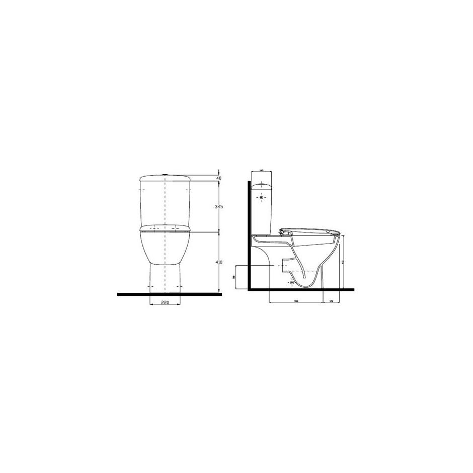 Koło Style zestaw WC (miska odpływ uniwersalny, spłuczka 6/3l) Reflex - 5930_T2