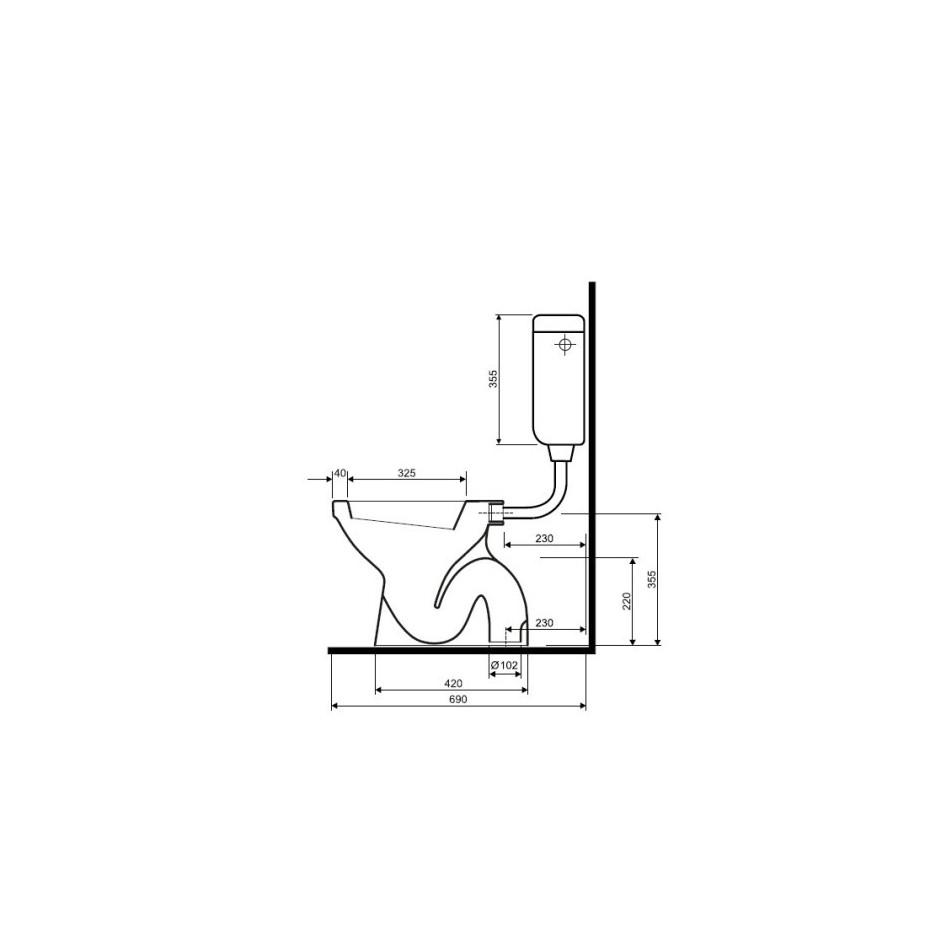 Koło Idol miska WC stojąca z odpływem pionowym - 6189_T1