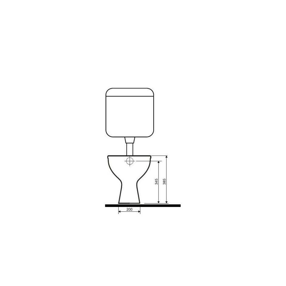 Koło Idol miska WC stojąca z odpływem pionowym - 6189_T2