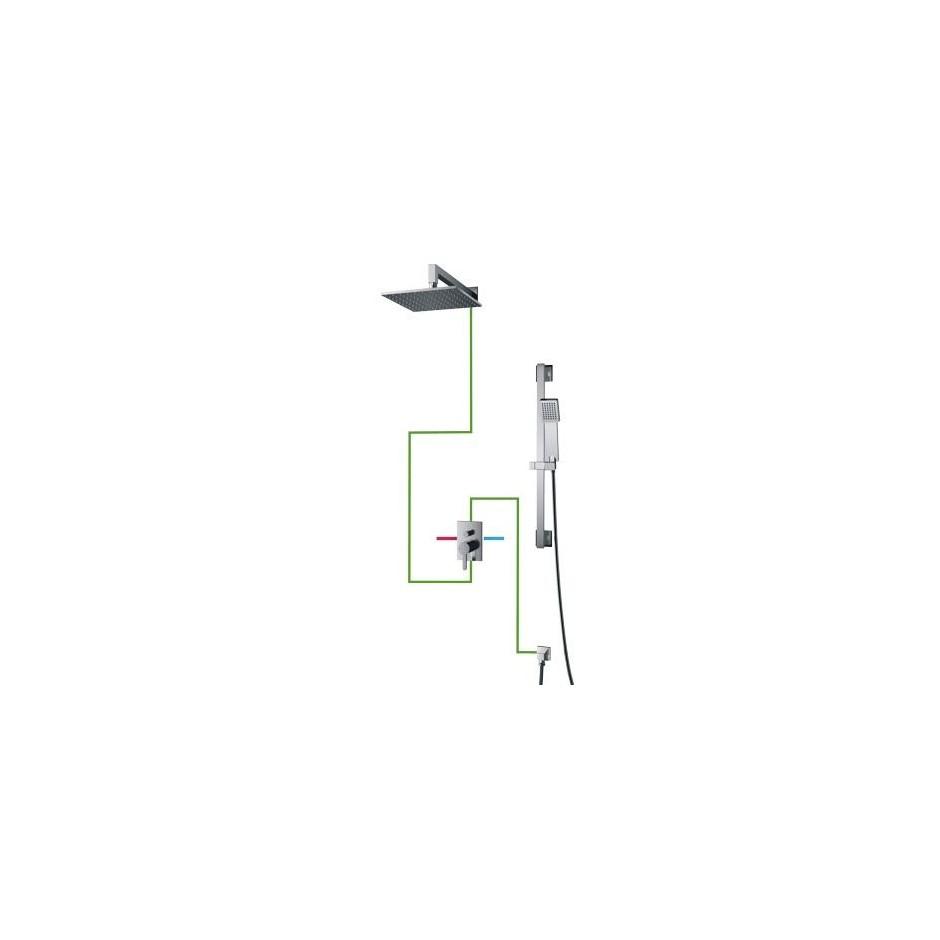 Omnires Darling system prysznicowy podtynkowy chrom - 768293_O1