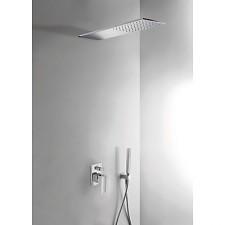 Tres Cuadro-Tres kompletny zestaw prysznicowy podtynkowy deszczownica 160x550mm chrom - 459351_O1