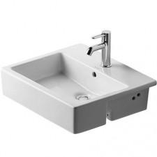 Duravit Vero umywalka półblatowa 55 biała WonderGliss - 392190_O1