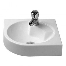Duravit Architec umywalka narożna 45 biała WonderGliss - 152901_O1
