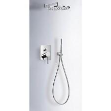 Tres Mono-Term kompletny zestaw prysznicowy podtynkowy deszczownica o300mm chrom - 507411_O1