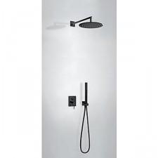 Tres Mono-Term kompletny zestaw prysznicowy podtynkowy deszczownica średnica300mm czarny matowy - 740617_O1