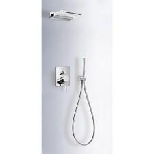Tres Mono-Term kompletny zestaw prysznicowy podtynkowy kaskada ścienna 152x200 mm chrom - 525645_O1