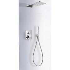 Tres Mono-Term kompletny zestaw prysznicowy podtynkowy deszczownica 160x550mm chrom - 525323_O1